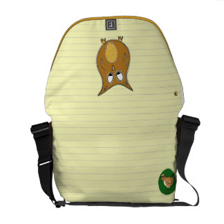 Owl Doodle on Yellow Notepaper Commuter Bags