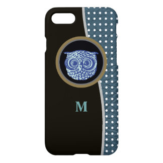 owl, dots & initial iPhone 7 case