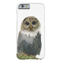 Owl Double Exposure Barely There iPhone 6 Case