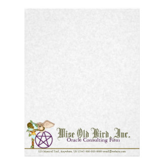 Owl, Dragon & Pentacle Pixel Art Letterhead