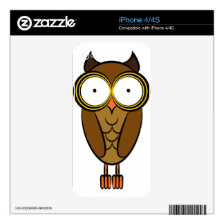 Owl Drawing Cartoon Character Skin For iPhone 4S