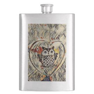 Owl drawing flask