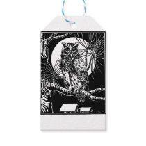 Owl Drawing Gift Tags