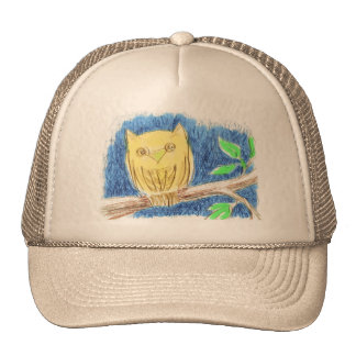 Owl Drawing Hat