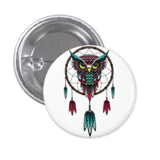 Owl dreamcatcher. button