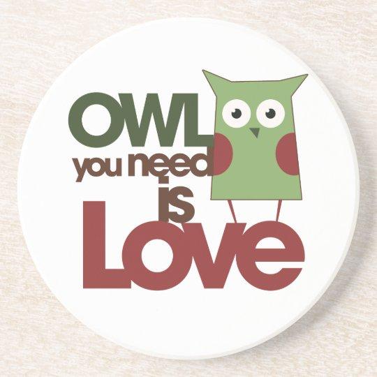 Owl Drink Coaster