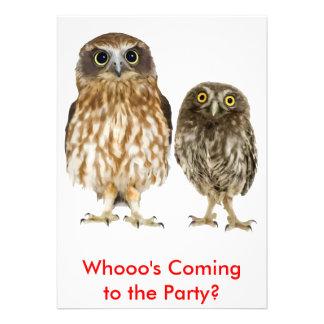 Owl Duo Invitations