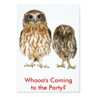 Owl Duo 5x7 Paper Invitation Card