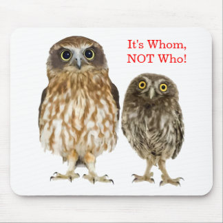 Owl Duo Mouse Pad