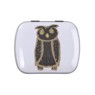 Owl - eagle owl - fogy jelly belly tin