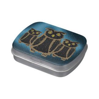 Owl - eagle owl - fogy jelly belly tins