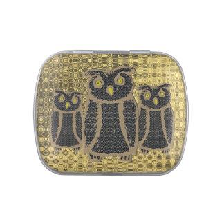 Owl - eagle owl - fogy candy tin