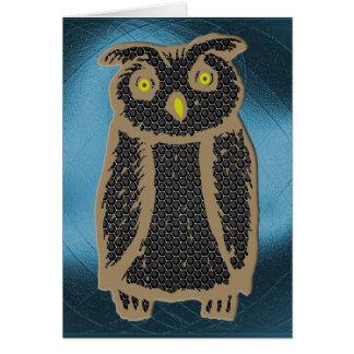 Owl - eagle owl - fogy card
