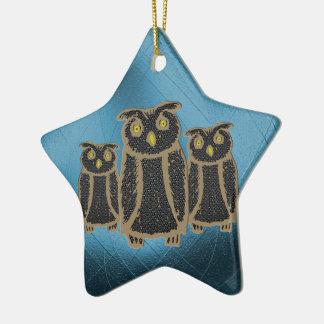 Owl - eagle owl - fogy ceramic ornament