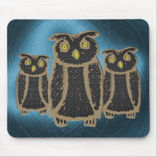 Owl - eagle owl - fogy mouse pad