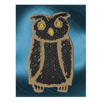 Owl - eagle owl - fogy postcard