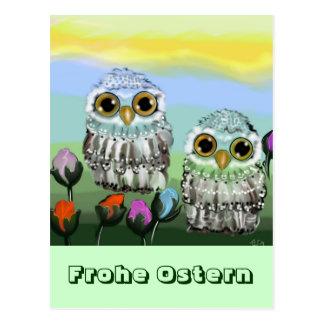 Owl Easter map Postcard