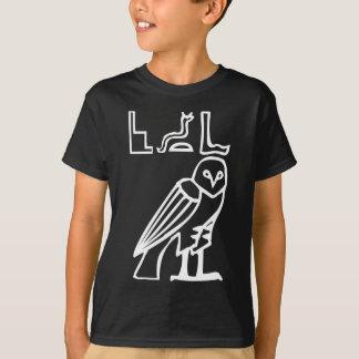 Owl, Egyptian hieroglyph T-Shirt