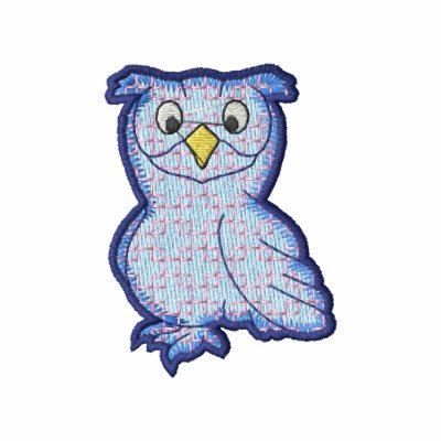 Owl Embroidered Hoodie
