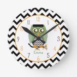 Owl - Enstein's Monster Personalized Clock