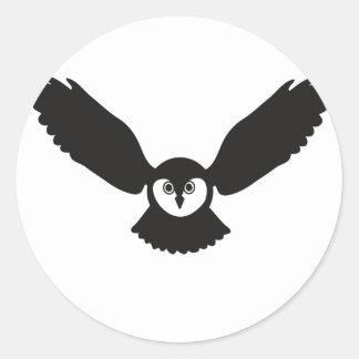 owl eule owlet bird wings pegatina redonda