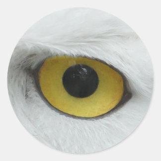 Owl Eye #5- Yellow Classic Round Sticker