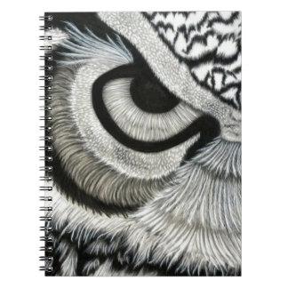 owl eye left side notebook