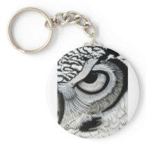 Owl Eye right side 2 of 2 Keychain