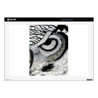 Owl Eye right side 2 of 2 Laptop Skin