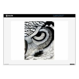 Owl Eye right side 2 of 2 Skin For Laptop