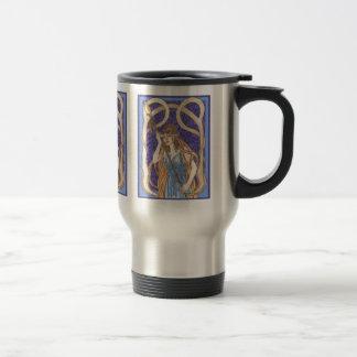 Owl Eyed Athena Messenger 15 Oz Stainless Steel Travel Mug