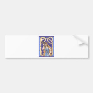 Owl Eyed Athena Messenger Bumper Sticker