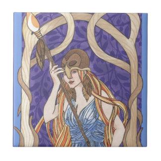 Owl Eyed Athena Messenger Ceramic Tile