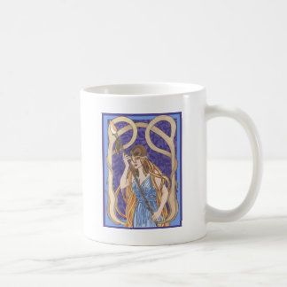 Owl Eyed Athena Messenger Classic White Coffee Mug