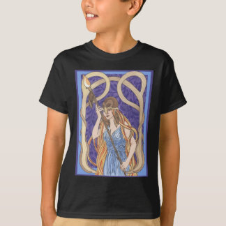 Owl Eyed Athena Messenger T-Shirt