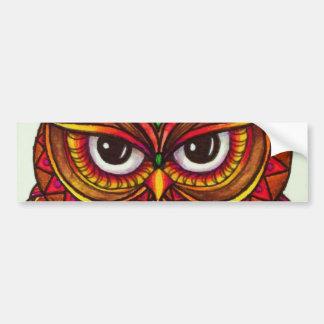Owl Eyed Wisdom Bumper Sticker