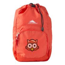OWL EYES AND FACE by Slipperywindow High Sierra Backpack