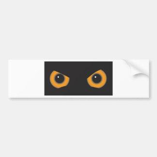Owl Eyes Car Bumper Sticker
