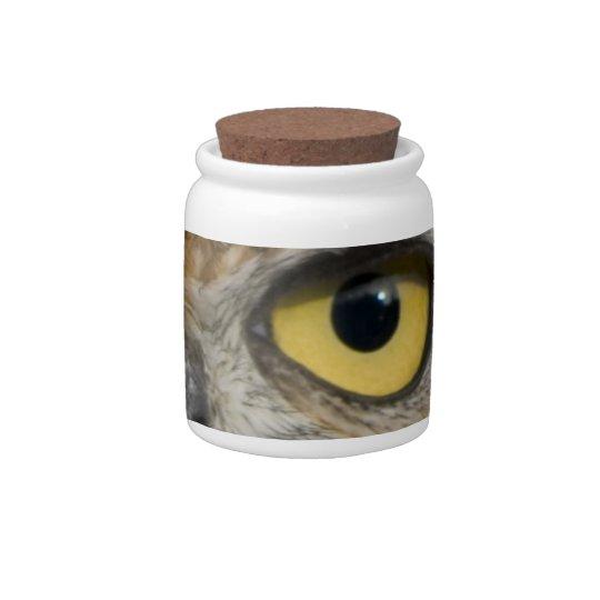 Owl Eyes Candy Jars