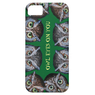 Owl Eyes cell phone green iPhone 5 Case