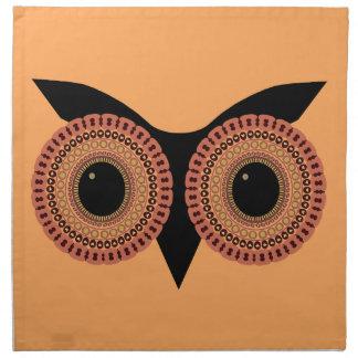 Owl Eyes custom cloth napkins