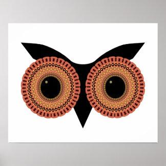 Owl Eyes custom poster