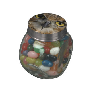 Owl Eyes Glass Candy Jars