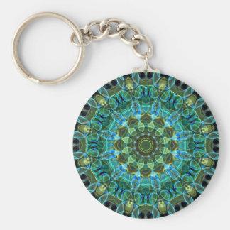 Owl Eyes kaleidoscope Basic Round Button Keychain