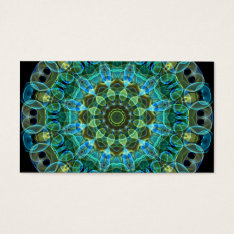 Owl Eyes Kaleidoscope Business Card at Zazzle