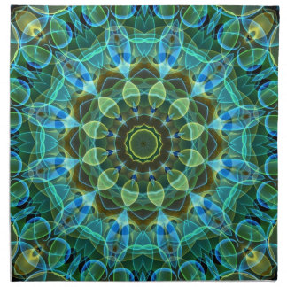 Owl Eyes kaleidoscope Cloth Napkin
