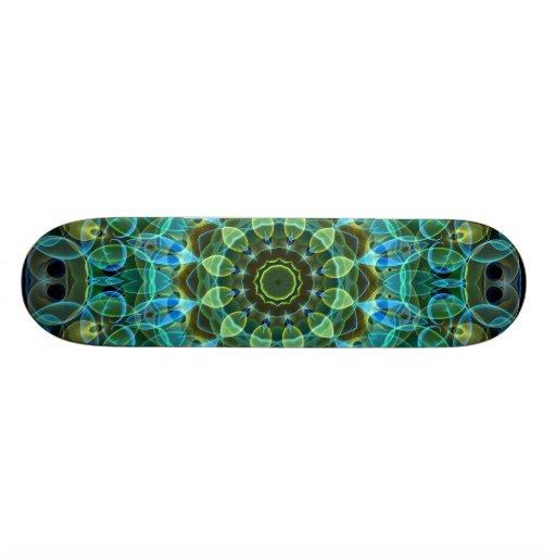 Owl Eyes kaleidoscope Custom Skate Board