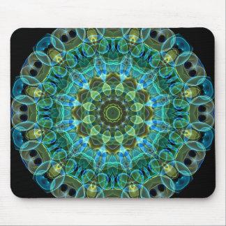 Owl Eyes kaleidoscope Mouse Pad