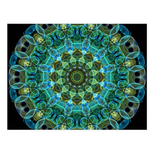 Owl Eyes kaleidoscope Postcard