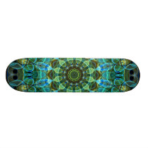 Owl Eyes kaleidoscope Skateboard
